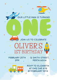 planes trains cars birth dp birthday invitations