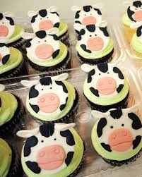 farm cake toppers black and white cow farm animal fondant cupcake toppers 12 qty 1st