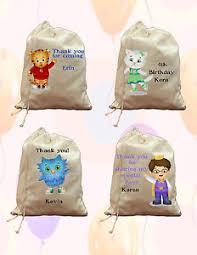 party favor bags set of 6 totally custom daniel tiger birthday party favor bags ebay