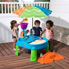 step2 busy ball play table step2 beachside splash sand and water table 18 months costco uk