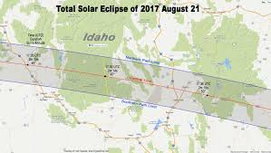 Map Of Idaho Cities Totality Maps By State U2013 American Eclipse 2017