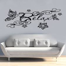 compare prices on relaxing butterflies online shopping buy low relax butterfly flowers quote wall vinyl stickers art room removable decals diy china