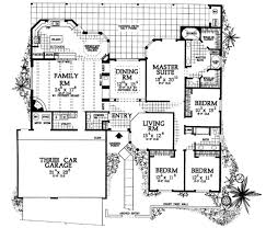 southwest floor plans adobe southwestern style house plan 4 beds 3 baths 2945 sq ft