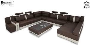 xxl wohnlandschaft ledersofa wohnlandschaft leder xxl u form creme orange big sofa
