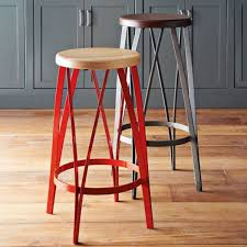 Modern Wood Bar Stool Metal Kitchen Bar Stools