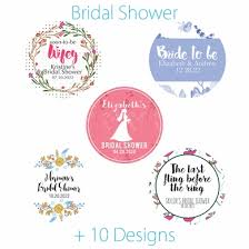 personalized bridal shower favors personalized bridal shower mini favor circle labels stickers on