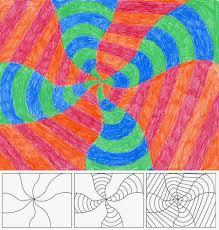 op art swirl art projects for kids