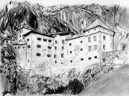 predjama castle slovenia my country drawings pictures