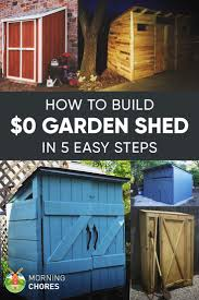 how to build a practically free garden storage shed plus 8
