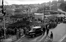 opel olympia 1952 nedleggelse av kirkesteinen i 1952 bil med reg nr t 2522