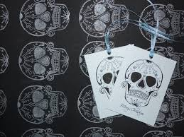 skull wrapping paper handmade christmas paper icicle sugar skull tattoo