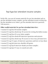 Bar Resume Examples by Top 8 Gas Bar Attendant Resume Samples 1 638 Jpg Cb U003d1437638151