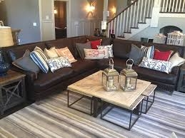 Family Room With Sectional Sofa Leather Wrap Around Apartment Size Sectional Sofa Sectional