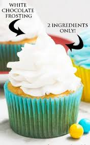 this quick and easy 2 ingredient white chocolate buttercream