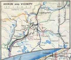 of akron map railroads of northern ohio
