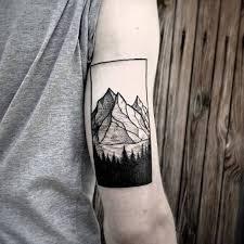 Tattoos For Triceps 35 Geometric Mountains Tattoos