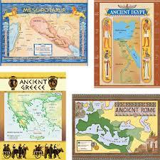 World Map Bulletin Board by Ancient Civilizations Bulletin Board Display Set Tcr4422