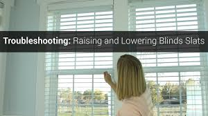 troubleshooting raising and lowering blinds slats youtube