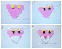 como hacer mascaras en forma de rosa cara de la pantera rosa goma eva pinterest la pantera rosa