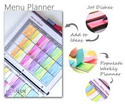 weekly family meal planner template the ultimate menu planner home made by carmona how it works the menu planner