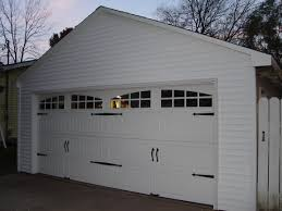 Detached 2 Car Garage by Detached Garage Facelift Carriage Door Opener Vinyl Siding