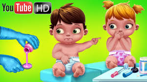 fun twin baby care dress up feed doctor kids games puzzle