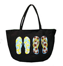flip flop bag flip flop printed canvas bag tote with zipper