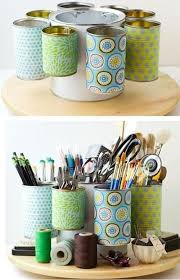 Tin Can Table Decorations New Life For Old Things Useful Crafts Of Cans U2013 Diy Is Fun