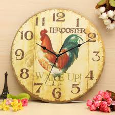 buy vintage wall clock retro zakka rustic art shabby wooden home