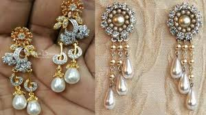 hanging earrings diamond with pearl hanging earrings