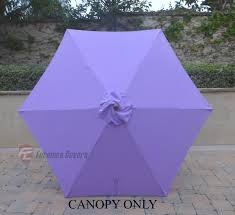 Deck Umbrella Replacement Canopy by Patio Umbrella Replacement Cover Canopy 6 Ribs Lavender
