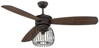 industrial style ceiling fans industrial style ceiling fans covered cage oil rubbed bronze triple