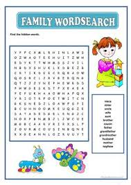 879 free esl family worksheets