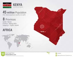 Kenya Africa Map by Kenya World Map With A Pixel Diamond Texture Stock Photo Image