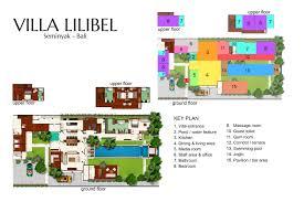 3 Bedroom Villa Floor Plans by Floorplan Villa Lilibel U2013 Seminyak 6 Bedroom Luxury Villa Bali