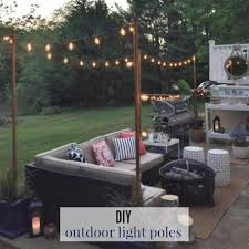 diy posts for hanging outdoor string lights house updated outdoor