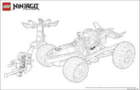 coloriage ninjago lego voiture 4x4 jecolorie com