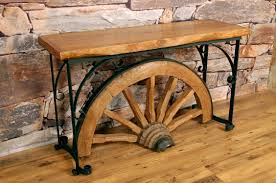 furniture beautiful wagon wheel coffee table design ideas brown