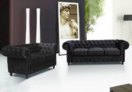 Chesterfield 3 Seater Sofa by New Modern Chesterfield Crushed Velvet 3 2 Seater Sofa Suite Black