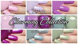 zoya charming spring 2017 nail polish live swatches youtube