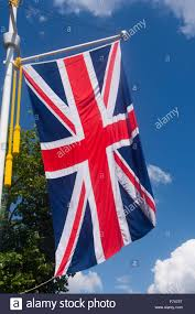 union jack uk gb great britain british flag hanging on the mall