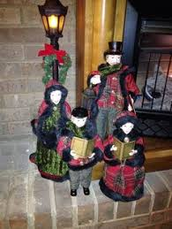 4 dickens carolers with faux fur by valerie from qvc get
