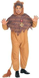 wizard of oz cowardly lion costume orange brown clothing