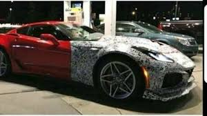 corvette zr barely disguised chevrolet corvette zr1 during gas station