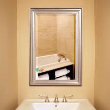 bathrooms design fireplace mirrors brushed nickel vanity mirror