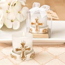 candle favors vintage cross candle party favors crossed themed baptism favors