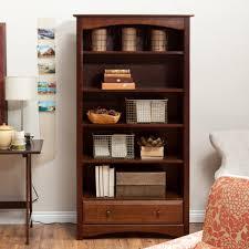Sauder 5 Shelf Bookcase by 5 Shelf Bookcase With Drawer Davinci Roxanne