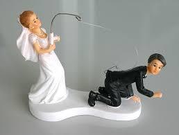 mariage humoristique figurine mariage humoristique canne a pêche figurine mariage