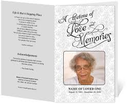 funeral program template 214 best creative memorials with funeral program templates images