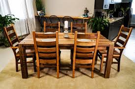 Wooden Dining Table Furniture Amish Reclaimed Wood Furniture